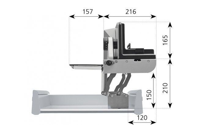 Built-in food slicer BFS 72 SR-H