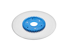 Standard ham- and sausage circular blade with a blue gear