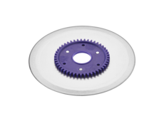 Standard ham- and sausage circular blade with a purple gear