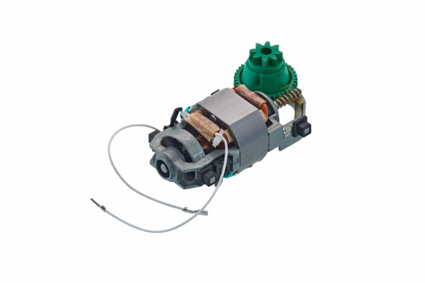 Motor with a green gear (right-handed operated)