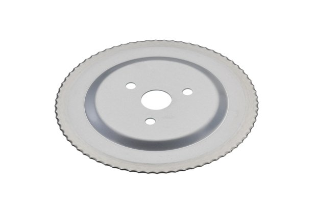 Standard serrated circular blade without a gear