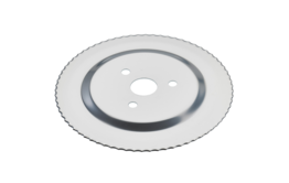 Serrated circular blade with electropolished surface and without a gear