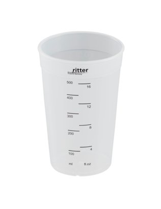 Blending cup made of plastic