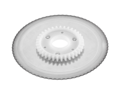 Serrated circular blade for Hand-operated food slicer
