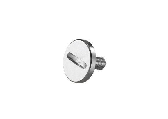 Screw plug for circular blade/hand crank and food guidance
